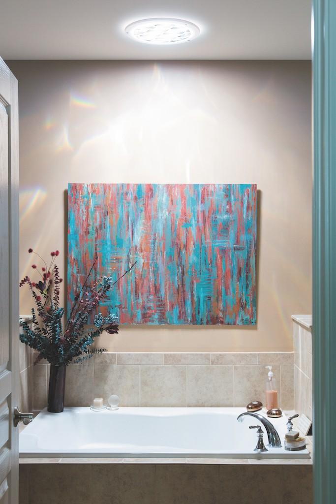 Éclairage naturel dans la salle de bain & toilettes ...