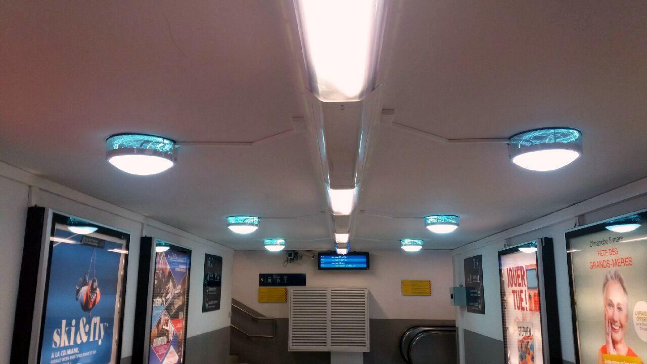 Gare de Cannes éclairé par la fibre optique Echy, Nature et Confort