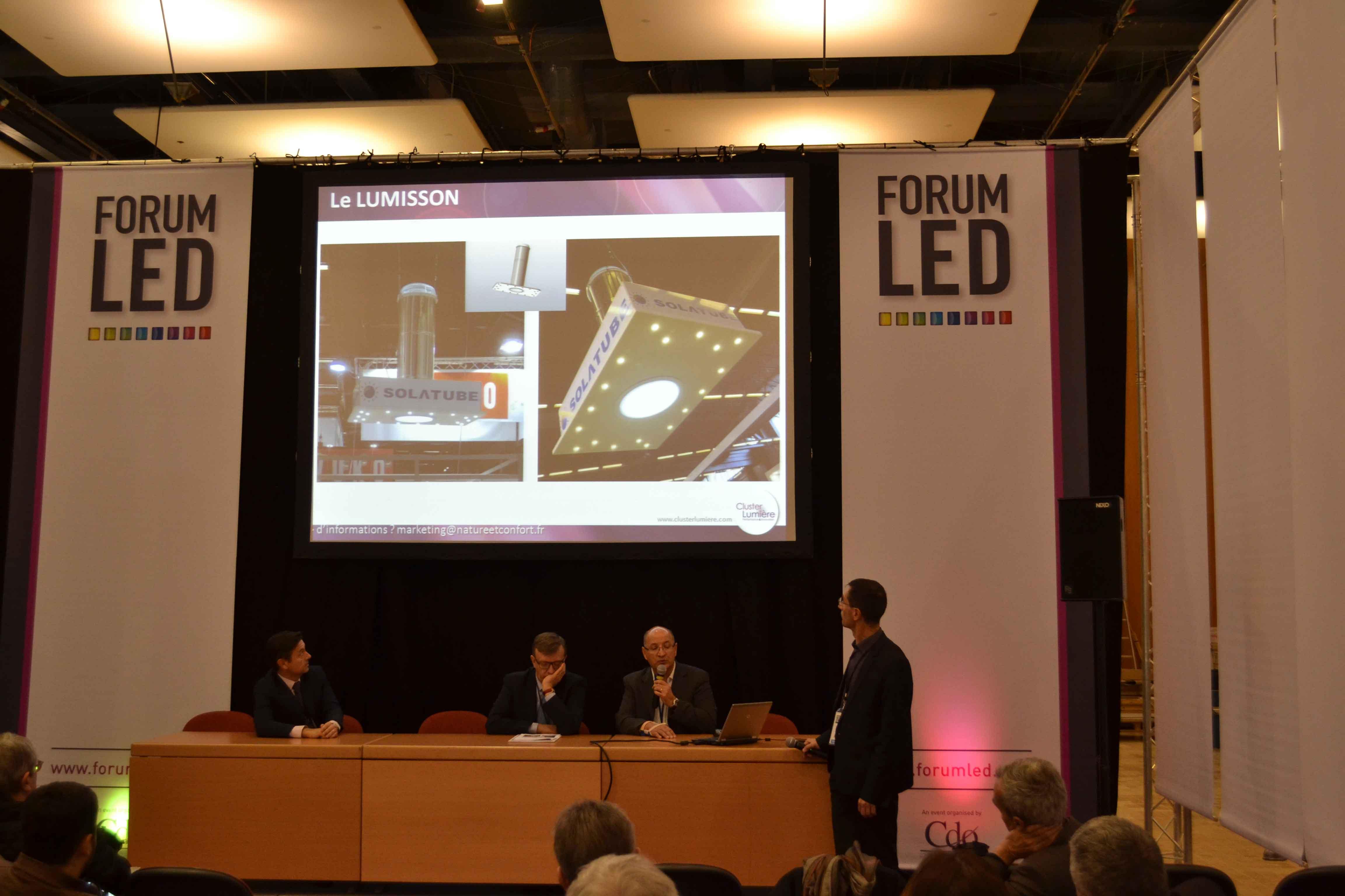 Présentation du LUMISSON lors du Forum LED Europe