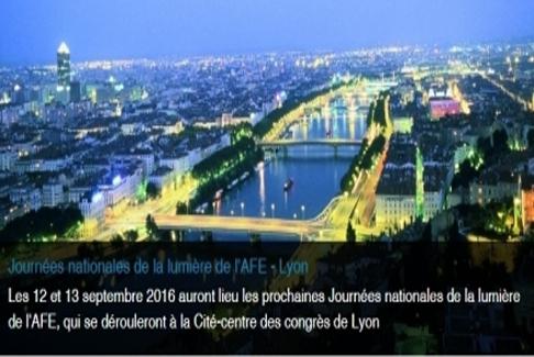 Participation aux Journées Nationales de la Lumière de l'AFE à Lyon.