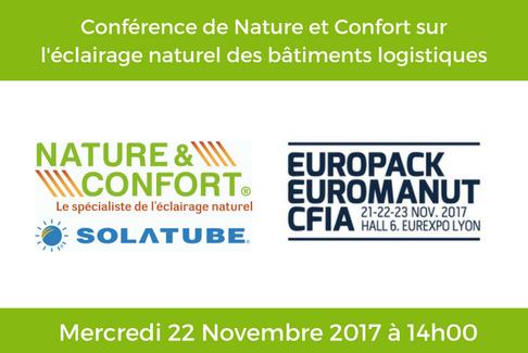 Nature et Confort donne une conférence à l'Europack Euromanut CFIA 2017 !