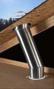 Exemple d'un conduit de lumiere dans un toit
