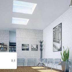 Puits de lumière au plafond